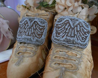"1910-20's Gorgeous Steel Cut Beaded ""Holfast"" Shoe Clips/Buckles"