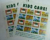 Unused Postage Stamps - Kids Care! Stamps for Postage or for Scrapbooking, Jewelry, Decoupage, Paper Crafts, Collage and More...