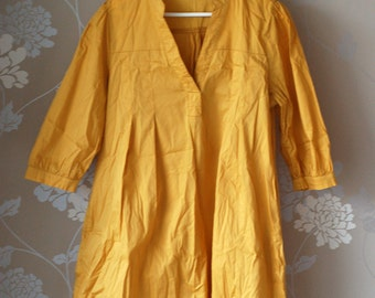 SUPER SALE: Mustard yellow caftan/dress/tunic