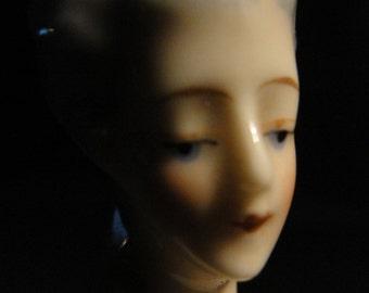 Antique German Porcelain Half Doll