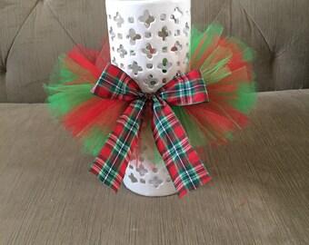 Christmas Tutu - Red & Green Tutu - 2 Color Tutu - Baby Girl Tutu