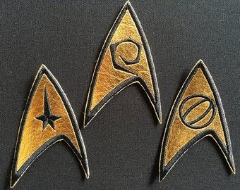 STAR TREK: TOS Enterprise Insignia Patches