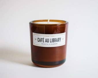 Café Au Library Literary Candle // The Noble Collection