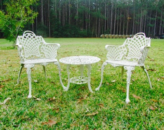 garden furniturepatio settablemetal chair aluminum chair and table - Garden Furniture Metal