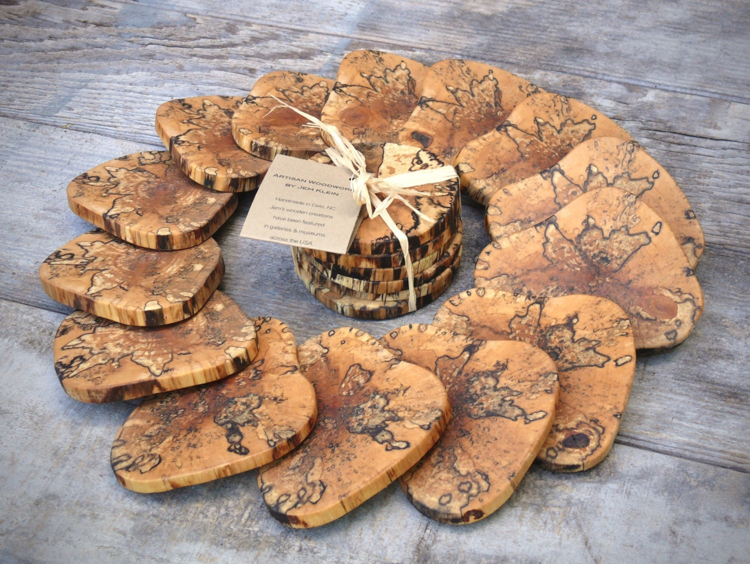 Rustic Wooden Coasters Wooden Drink Coasters Set Of 6