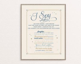 Personalized I Spy Wedding Print