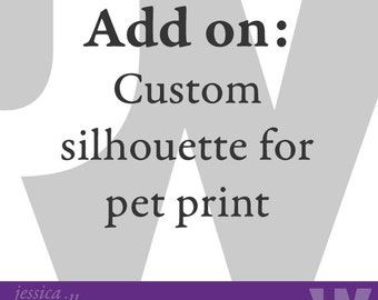 Custom Pet Silhouette from photo