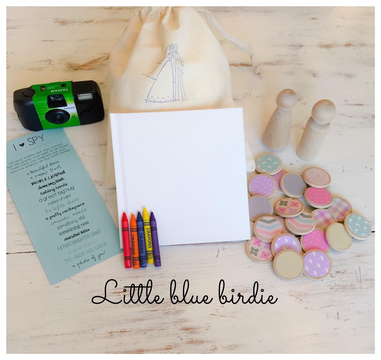 Kids Wedding Activity Kids Wedding Favor By Thelittlebluebirdie