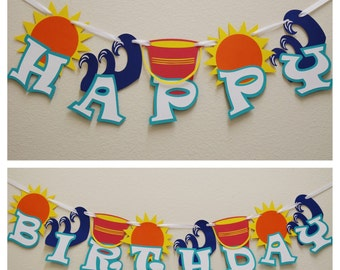 Ocean Happy Birthday Banner ; Beach Themed Banner ; Fun in the Sun ; Happy Birthday Banner ; Summer Party Decor