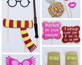 Harry Potter Bachelorette Party Photo Booth Props ; Wizard Wifey Party Decor ; Muggle to Mrs ; Wizard Photo Booth Props