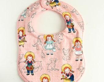 Baby Snap Bib / Minky Bib / Farm Girl / October Afternoon Fabric
