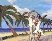 Salsa en la playa 25x20 image (36x24 poster)