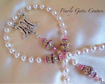 BABY BAPTISM PERSONALIZED Rosary Boy/Girl Rosary-First Communion-Birthday-Catholic Child-Catholic Baptism-Religious Gifts, Child's Rosary