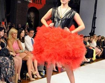 Red Tulle Dress Avante Garde Dress