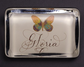 Custom Name Paperweight Butterfly