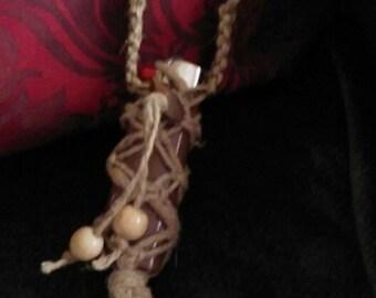 Macrame Hemp Lighter Necklace