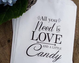 Wedding Favor Bags - Treat Bags - Candy Buffet Bags