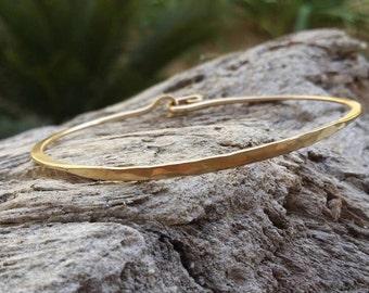 Hammered Bangle, Bracelet, Sterling Silver, or, 16K Gold Fill, Stacking Bangle, Gold Bangle, Silver Bangle, simple bracelet, tiny bracelet