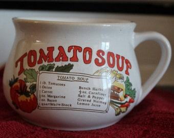Stoneware Tomato Soup Mug c1970s