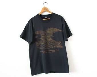 LARGE Vintage 1991 Peace Yes.. But Freedom First! Desert Storm Graphic T-Shirt