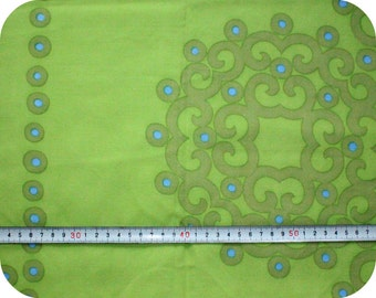 Floral retro vintage fabric - green and blue