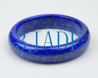 60.5mm Rare Natural Lapis Lazuli Gemstone Bangle Bracelet -C035051