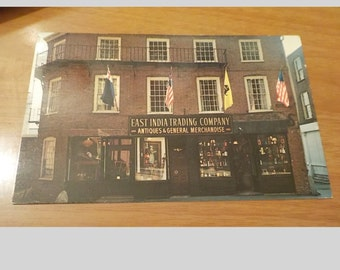 Vintage ORIGINAL East India Trading Co Boston Mass Postcard Free Shipping