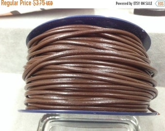 On Sale NOW 25%OFF 3mm Round Genuine Greek Leather Cord Chocolate - 1 Meter