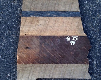 Reclaimed Barnwood Alabama Outline
