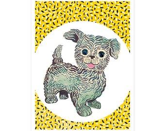 Doggy birth card