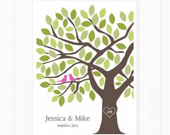 Wedding Guest Book - Guestbook Tree - Unique Guest Book for 125 Guests