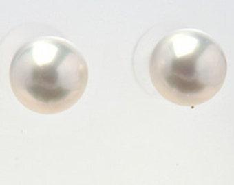 White, South Sea Pearl, Stud Earrings
