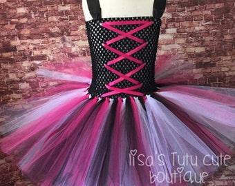 Rock star tutu, rock star dress, rock star party, rock star birthday, hi lo dress, hi lo tutu, hi lo skirt,