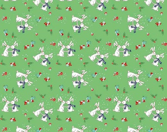 PIXIE NOEL 1/2 yard by Tasha Noel for Riley Blake Bunnies Green