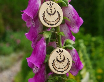 India style wooden earrings
