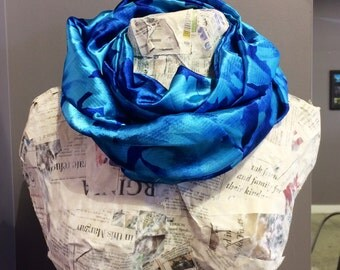 Handmade Scarf infinity scarf fashion scarf handmade scarves blue scarves