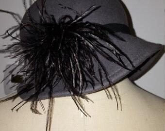 Kathy Jeanne ladies' grey wool winter bucket hat