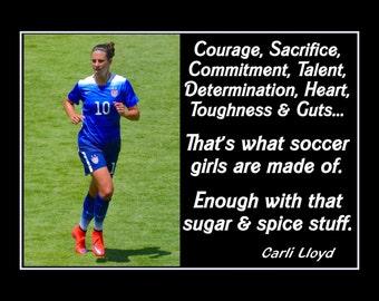 Carli Lloyd Quotes Best Carli Lloyd Quotes Enchanting Carli Lloyd Girls Soccer Practice
