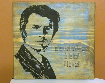 Clint Eastwood Dirty Harry Wooden Wall Art