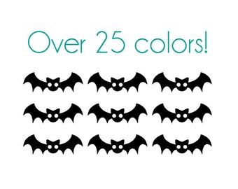 Bat Nail Decals - Vinyl, Custom Color Choice