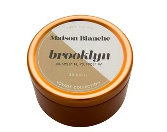 Brooklyn Travel Candle. Hand-poured. 30 hr burn time