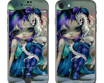 Frost Dragonling by Jasmine Becket-Griffith - iPhone 7/7 Plus Skin - Sticker Decal