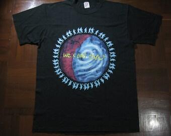 "Vintage Genesis Tour 1992 Promo Rock thin t shirt Jerzees Vtg cotton Size XL 46"" Black Soft Tee"
