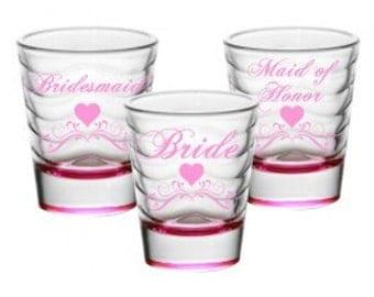 Bride Wedding Shot Glass Set