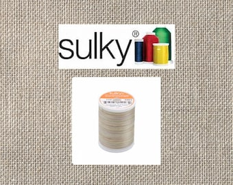 Sulky 2-ply 12wt - Blendables Cotton Thread -  330yds - Natural Taupe -713-4023 - By the Spool