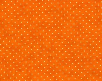Moda Quilt Fabric - Essential Dots - Orange Background - 8654 34 - By the Yard Listing