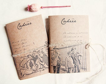 Cinema film notebook Jules et Jim, french style journals, movie journal