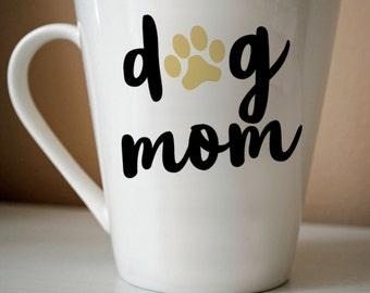 Dog Mom Decal | Dog, Dog Mom, Dog Lover, Dog Gift, Coffee, Coffee Gift