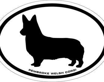 Pembroke Welsh Corgi Vinyl Decal Sticker
