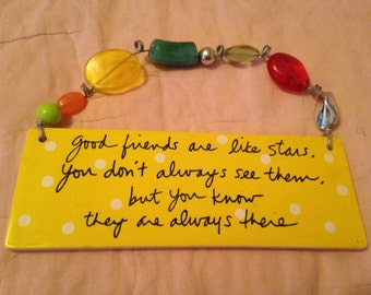 Beaded Friendship Wall Plaque